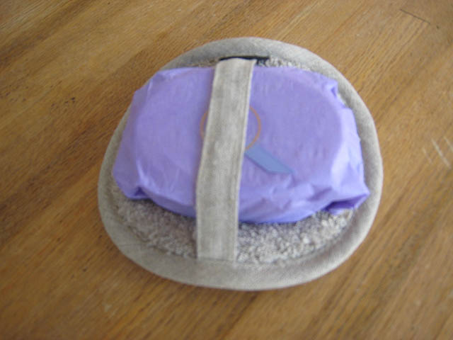 Linen Terry Body Scrubber with Goats Milk/Lavender Soap Bar